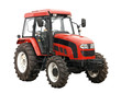 New red tractor isolated over white background - 32708788
