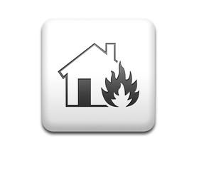 Boton cuadrado blanco simbolo fire house