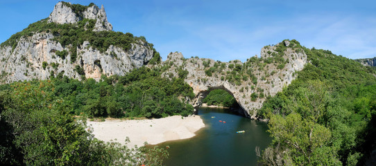 Pont d' Arc - panorama 180 °
