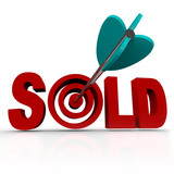 Sold - Arrow in Word Bullseye - Done Deal Transaction poster