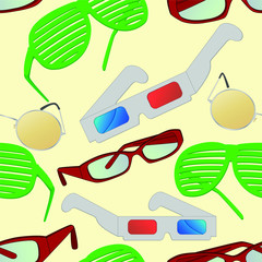 Seamless and repeatable tile of different types of glasses