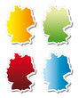 stickers in form of Germany