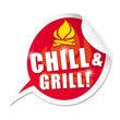 Chill & Grill! Button, Icon