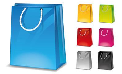 Icon Shop Einkaufstüte Warenkorb Set