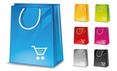 Icon Shop Einkaufstüte Warenkorb Set Korb