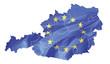Österreich mit Europaflagge
