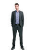 Smiling businessman full length