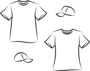 Apparel for men and women. Vector illustration