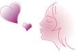 Give love. Vector illustration