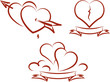 Love and romance – Valentines and broken hearts (Vector)