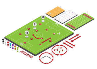 Sport schemes. Vector illustration.