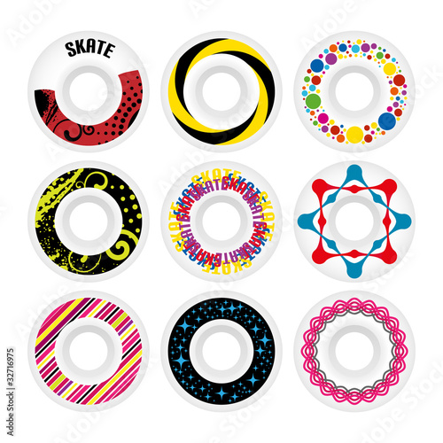 Design skate wheels. Vector illustration.