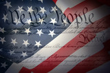 American Constitution with Flag - 32718551