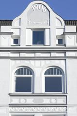 Jugenstilfassade in Kiel,Deutschland