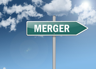 "Signpost ""Merger"""