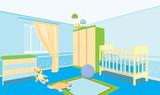 Fototapety Children's room for the boy