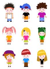cartoon kid set