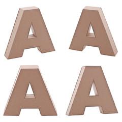 Cardboard letter A