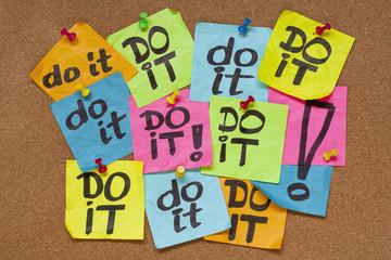 do it - procrastination concept