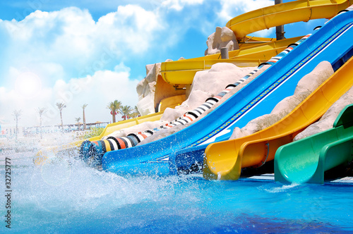 Aquapark sliders - 32725777
