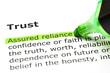 'Assured reliance' highlighted, under 'Trust'