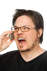 yelling on the phone