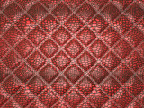 Red Alligator skin with stitched rectangles