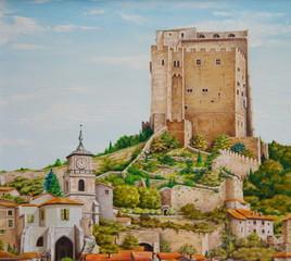 tableau - peinture de la tour de crest
