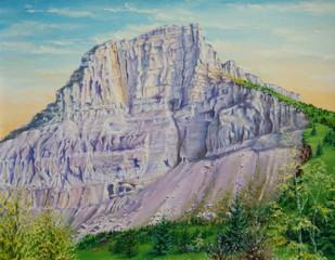 tableau - peinture du mont granier en savoie