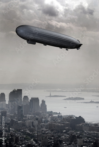 Zeppelin above New York
