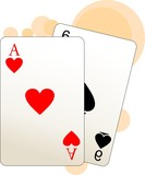 Illustration of two aces playing card
