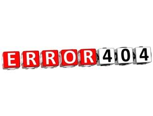 3D Error 404 Crossword