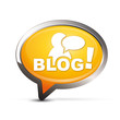 icône bulle blog