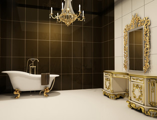 baroque furniture in bathroom
