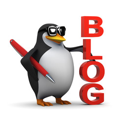 3d Penguin has a successful blog