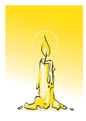 candle, freehand drawing (vector)