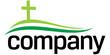 Green cross silhouette logo