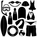 Swimming Diving Snorkeling Aquatic Equipment Tool poster