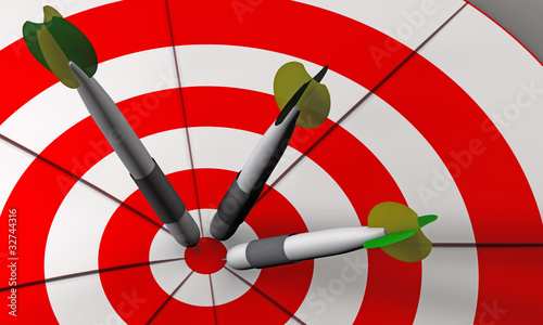 Bulls eye and darts in 3D