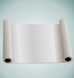 Illustration of blank paper roll for design