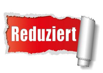Reduziert - aufgerissenes Papier - rot