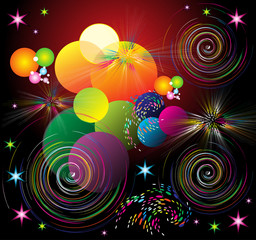 abstract shiny colorful background