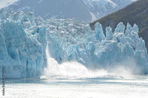 Leinwanddruck Bild Glacier Bay Calving
