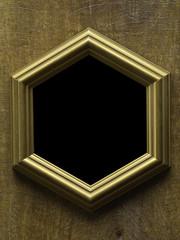 Golden Frame on Wood