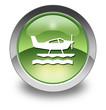 "Green Glossy Pictogram ""Sea Plane"""