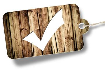 OK button, wood