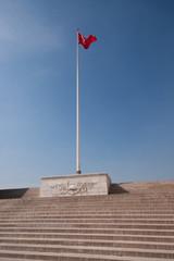 turkish flag on post