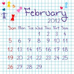 Calendar for February 2012