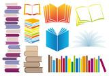 Fototapety set of books, vector