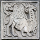 old bas-relief of fairytale camel poster